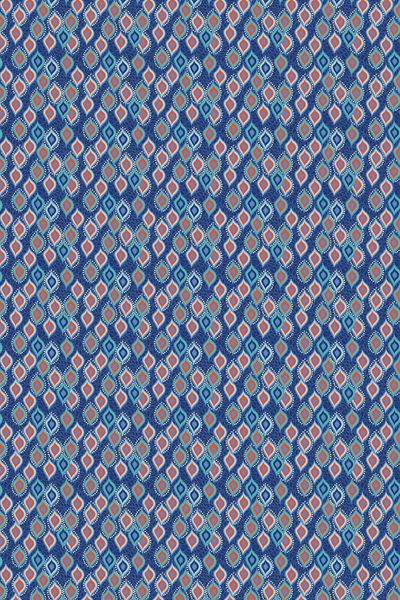 BINDI DANCE ETHNIC DIGITAL PRINT-indigo