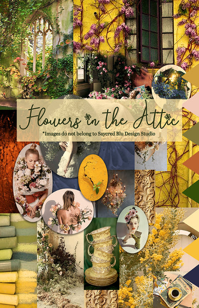 Flowers in the Attic Mood Board
