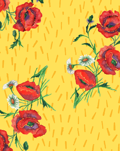 HAPPY CHICA DIGITAL FLORAL PRINT-lemon