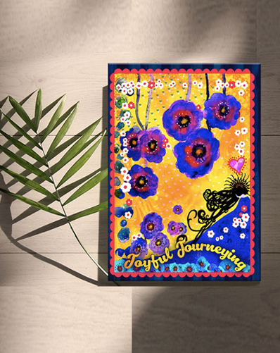 """JOYFUL JOURNEYING"" - Companion Hard Cover Journal"