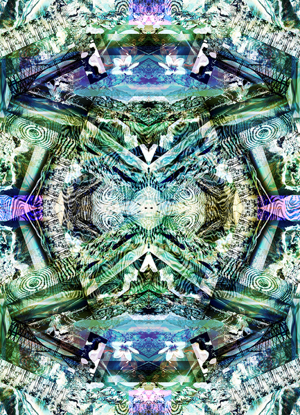 LOCO GUMBO MULTI DIGITAL ABSTRACT PRINT