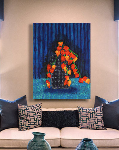 """LA BOTELLA"" Canvas Wrapped Wall Decor"
