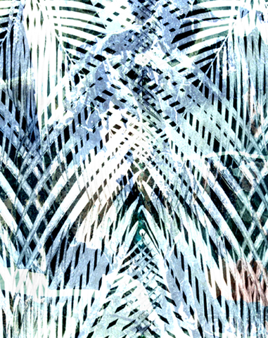 PALM TRIBE TROPICAL ABSTRACT PRINTED FABRIC