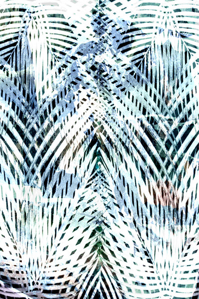 PALM TRIBE TROPICAL ABSTRACT DIGITAL PRINT
