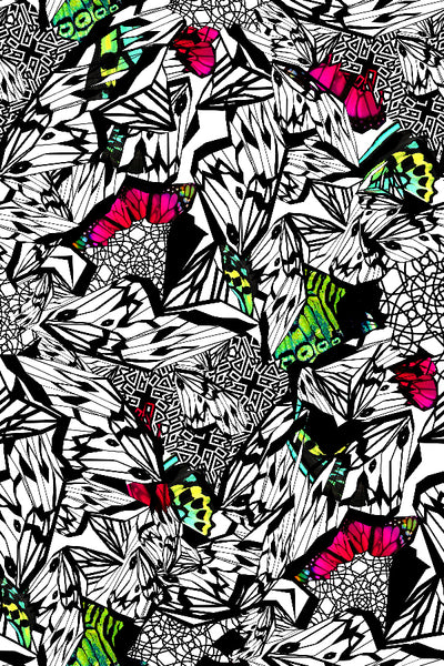 PAPILLON BUTTERFLY ABSTRACT PRINTED FABRIC