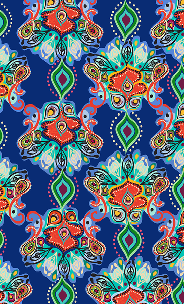PERSIA JEWEL DIGITAL BOHEMIAN  PRINT-denim