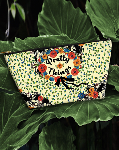 """PRETTY THINGS"" - Hand Painted Accessory Pouch"