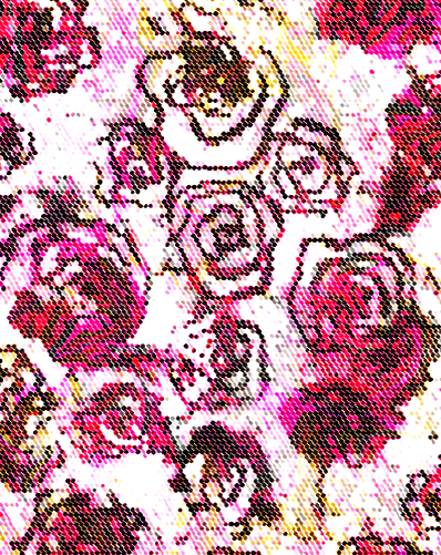 ROSALIE FLORAL ABSTRACT DIGITAL PRINT