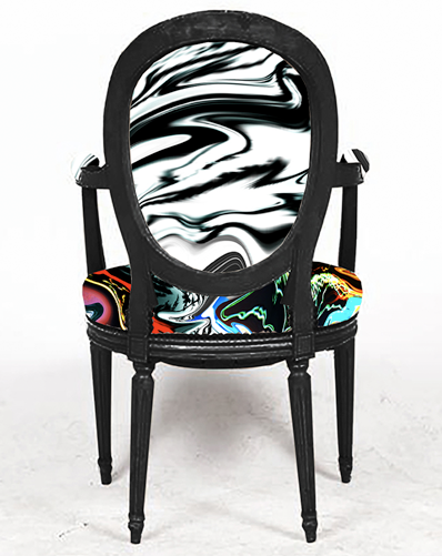 SHAZZAM ABSTRACT GRAFFITI  PRINTED FABRIC