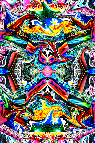 SWIRL POP DIGITAL TROPICAL ABSTRACT PRINT