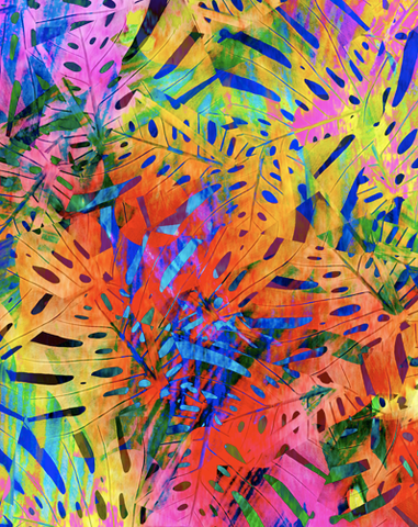 TRIP TROP TROPICAL ABSTRACT DIGITAL PRINT