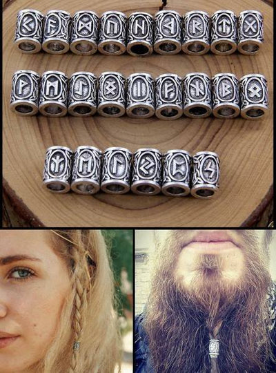 24 Piece Viking Beard Beads Kit