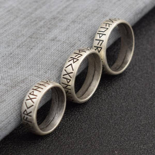Elder Futhark Runes wedding Ring