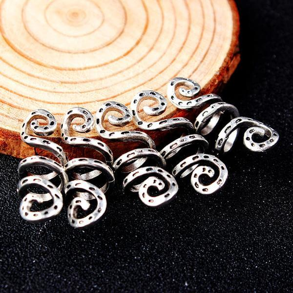 5pcs Spiral hair braid beads
