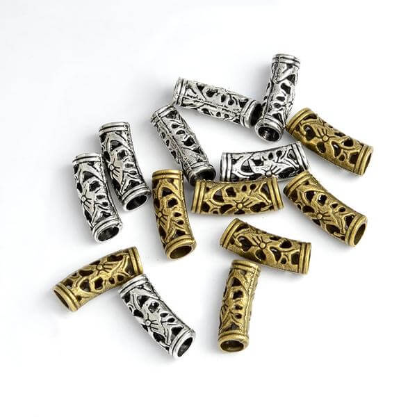 silver and bronze 20pcs/lot  Viking Hair Beads