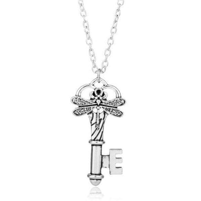Buttlerfly Celtic Key Pendant on a white background