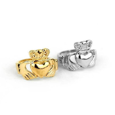 Claddagh Loyalty Rings silver and gold