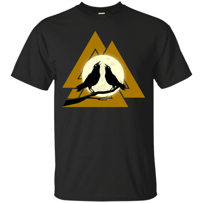 Valknut Norse Black T-Shirt on a white background