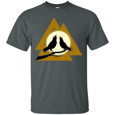 Valknut Norse dark heather  T-Shirt on a white background