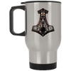 Mjolnir Silver Stainless Travel Mug