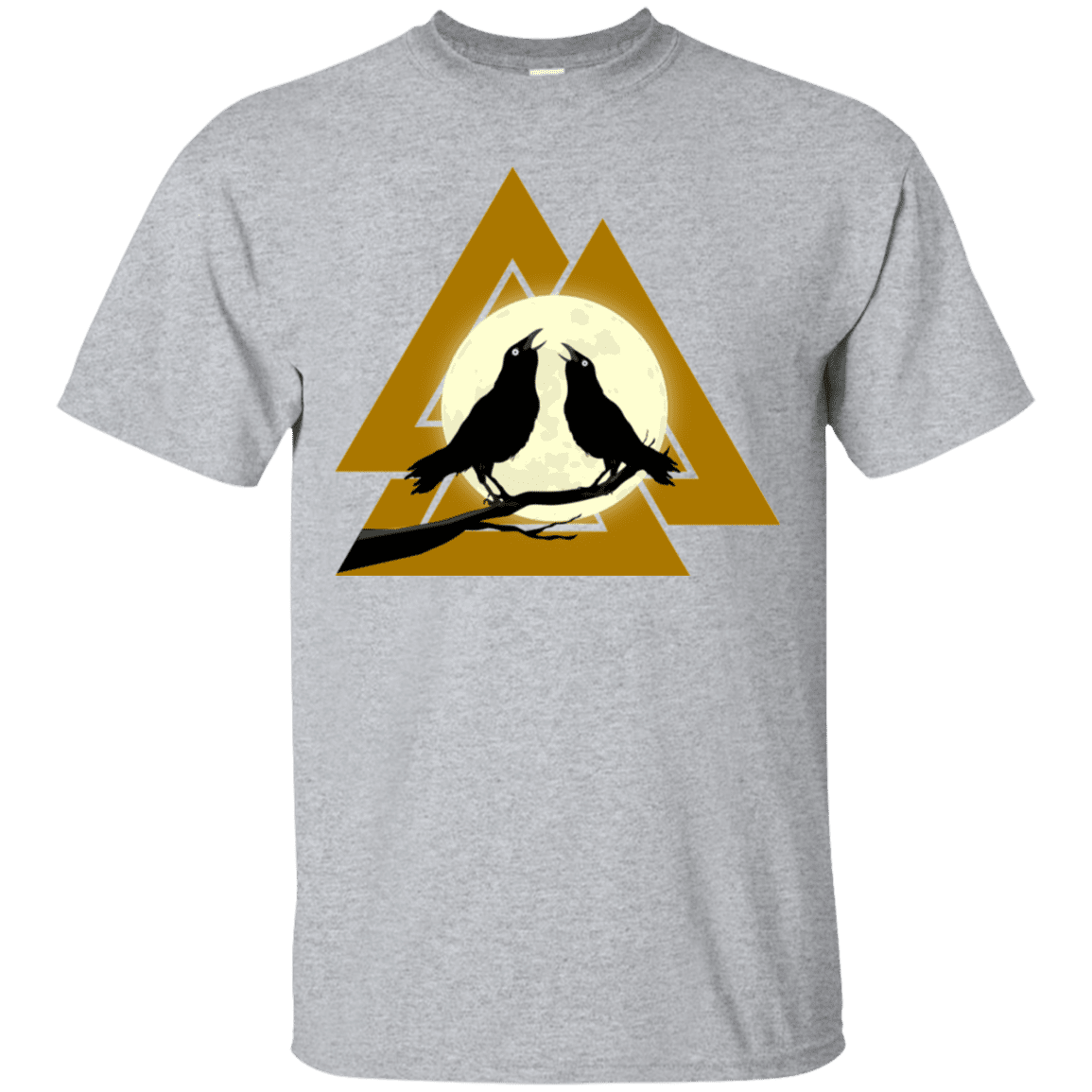 Valknut Norse Sports Grey  T-Shirt on a white background