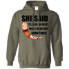 She said its either me or the mead military green  pullover hoodie