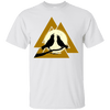 Valknut Norse White  T-Shirt on a white background