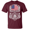 Maroon American Crown Viking Roots T-shirt