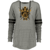 Angry Viking Ladies hooded vintage grey Pullover on a white background