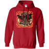 Huggin and Munnin Mjolnir Raven Red  Hoodie