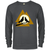 Valknut Crew Neck Charcoal Heather Sweatshirt on a white background