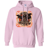 Huggin and Munnin Mjolnir Raven Light Pink Hoodie