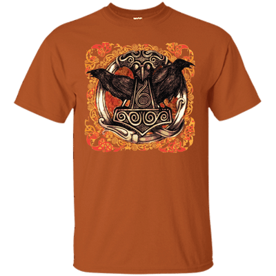 Huggin and Munnin Mjolnir Raven Texas Oran T-Shirt