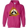 Norse Slain Warriors Valknut Heliconia Hoodie on a white background