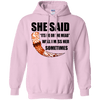 She said its either me or the mead light pink pullover hoodie