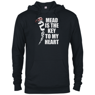Mead is the Key to My Heart black hoodie on a white background