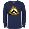 Valknut Crew Neck Navy Sweatshirt on a white background