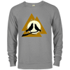 Valknut Crew Neck Graphite Heather Sweatshirt on a white background