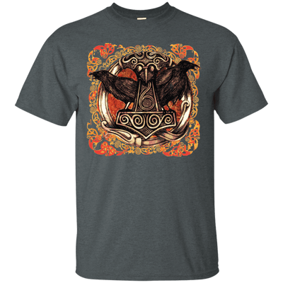 Huggin and Munnin Mjolnir Raven Drark Heather T-Shirt