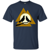 Valknut Norse Navy  T-Shirt on a white background