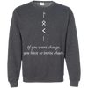 Change and Chaos Dark Heather  Sweatshirt