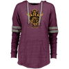 Angry Viking Ladies hooded vintage maroon Pullover on a white background