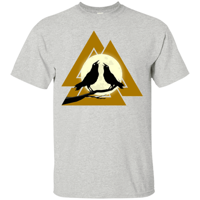Valknut Norse Ash  T-Shirt on a white background