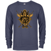 Angry viking navy french terry sweatshirt on a white background