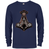 Navy Mjolnir  French terry sweatshirt on a white background