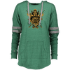 Angry Viking Ladies hooded forest green Pullover on a white background