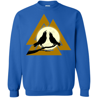 Valknut Crew Neck Royal Pullover Sweatshirt on a white background