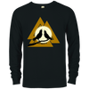 Black Valknut Crew Neck Sweatshirt on a white background