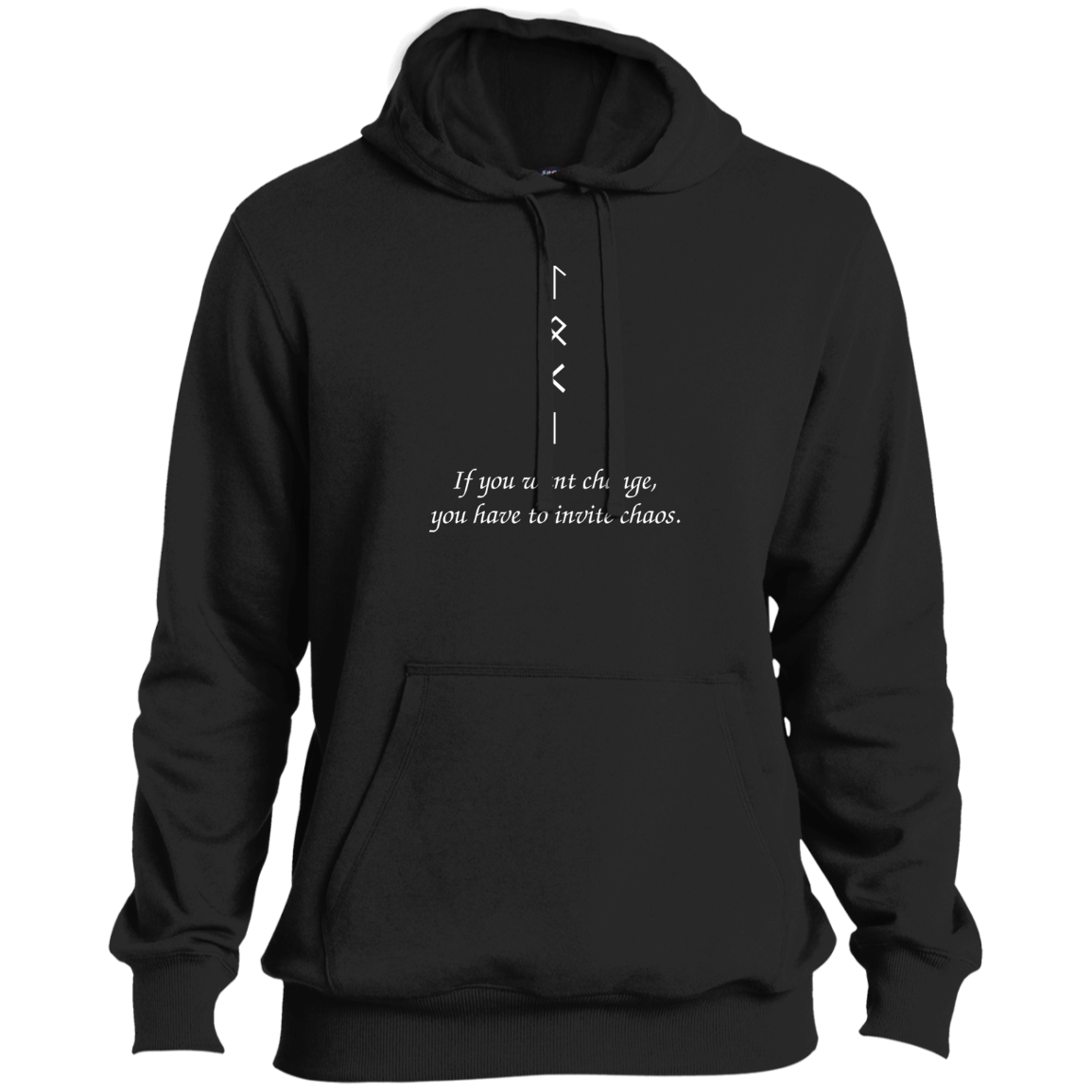 Change and Chaos Black Pullover Hoodie