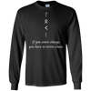 Long Sleeved Change and Chaos Black  T-Shirt on a white background